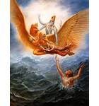Lord Vishnu Saves His Devotee from the Ocean of Material Existence