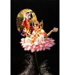 Lord Brahma Sits on the Lotus and Hears from Krishna about the creation