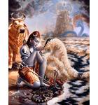 Lord Shiva Drinks the Ocean of Poison