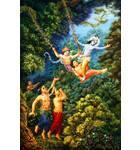 Krishna and Balaram Play on a Swing