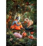 Krishna With the Animals of Vrindavan Forrest