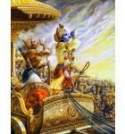 Krishna and Arjuna Blow Their Conch Shells