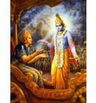 Krishna Instructs Bhagavad Gita to Arjuna