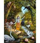 Krishna with the Animals of Vrindavan