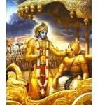 Krishna Instructs Arjuna on the Battlefield of Kuruksettra