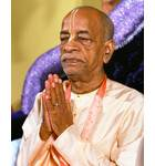 Prabhupada Sit on Vyasasana Praying with Hands