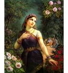 Radharani and Bumble Bee Painting