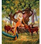 Lord Caitanya in Forest Painting