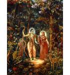 Sita Rama, Laksman in Forest Painting