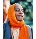 Srila Prabhupada with Orange Shawl Drapped around Head
