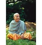Srila Prabhupada at Bhaktivedanta Manor, London. Backyard, Smile