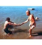Srila Prabhupada Bathing in Ganges
