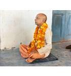 Srila Prabhupada in Radha Damodar Room, Chanting Gayatri