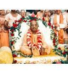 Srila Prabhupada in Detroit, On Vyasasana with Devotees