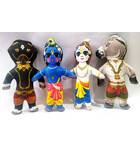 Krishna and Balaram with Kesi & Dhenukasur Demons Dolls -- Childrens Stuffed Toy