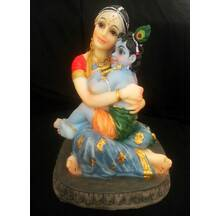 "Mother Yasoda with Baby Krishna Polyresin Figure (5"" high)"