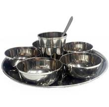 "Deity Offering Plates Medium Size (8.4"" Stainless Steel)"