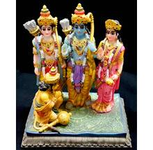 "Sita, Rama, Laksman and Hanuman  Polyresin Figure (6.5"" high)"