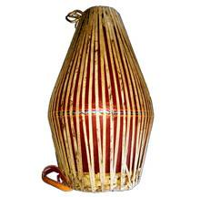 "Medium Fiberglass Mrdanga with Traditional Heads (18"") including Cloth Cover"