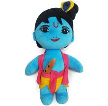 """Lord Krishna Doll - 14\"""" Inches -- Childrens Stuffed Toy"""