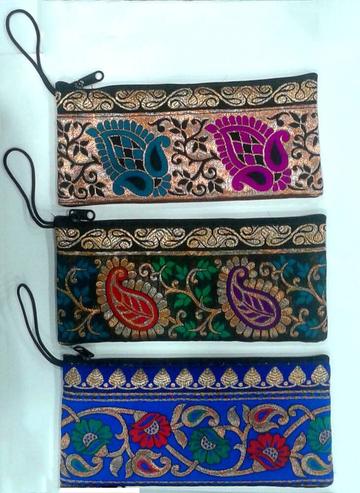 3162d1fc5f1e Zip Bag With Finger Thread in Traditional Indian Designs (3.5