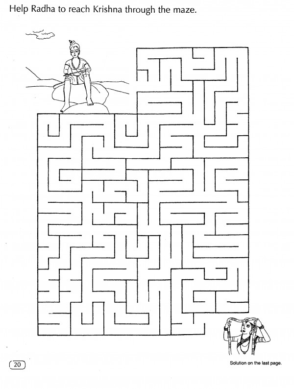 Help Radha to reach Krishna through the maze.